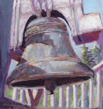 Norma Johnson painting of bell